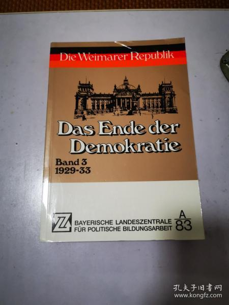 Das Ende der Demokratie 民主的终结 德文原版