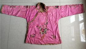 特价民国绣工精美漂亮花卉图美女衣服上衣对襟袄包老