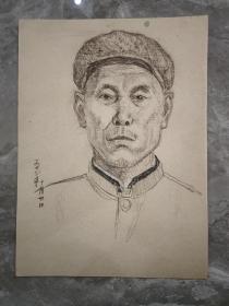 保真书画:1978年 素描 中年男子