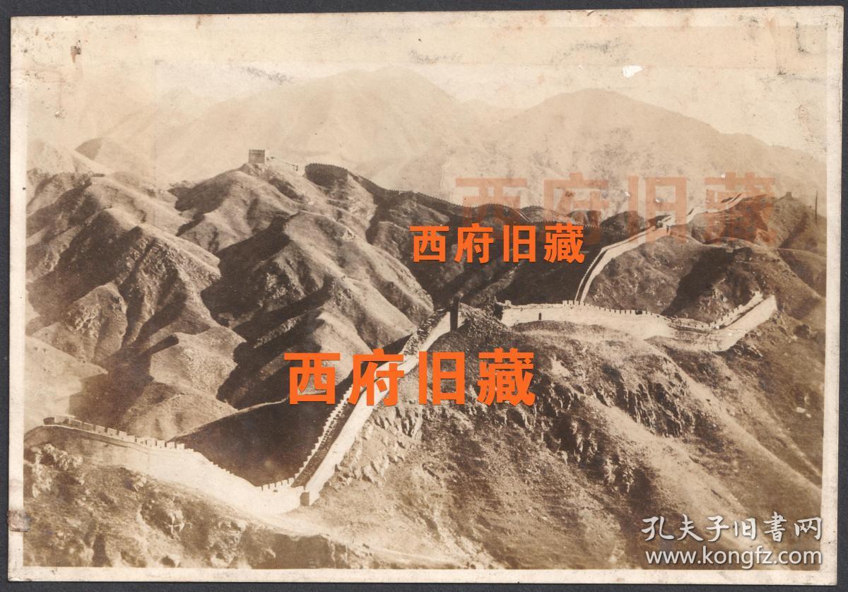 民国老照片,民国时期的长城老照片,场景少见