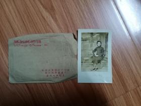民国胜利相馆妇人照片(带相片袋)