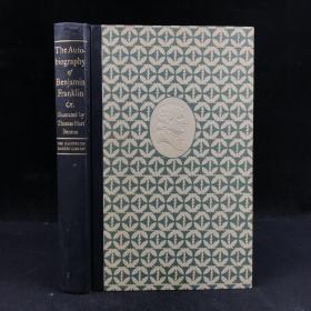 #漂亮插图本#1944年,《富兰克林自传》,节选插图版,数十幅彩色插图,精装,The Autobiography of Benjamin Franklin