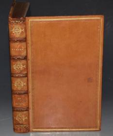 1813年 WALTER SCOTT: Rokeby  – 沃尔特•司各特叙事长诗 《洛克比》全鸡油黄小牛皮善本古董书 Richard Westall 铜版画初版本 品绝佳 礼品