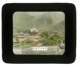 清代民国玻璃幻灯片----民国时期北京香山碧云寺佛塔寺院,北京最精美的金刚宝座塔