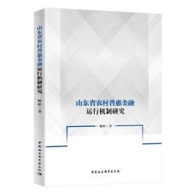 山东省农村普惠金融运行机制研究