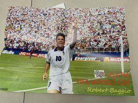 足球海报  1994世界杯巴乔2张