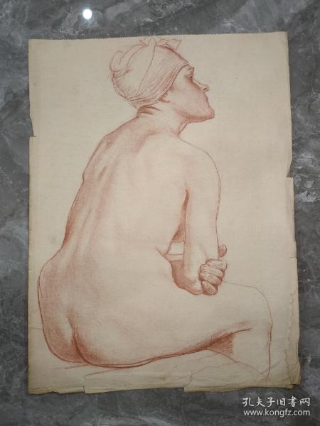 保真书画:五十年代 素描 女人体