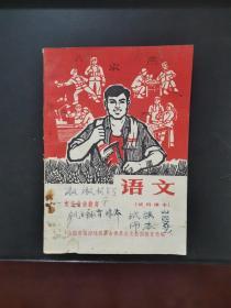 文革课本:农民业余教育 语文(试用课本)有毛主席语录