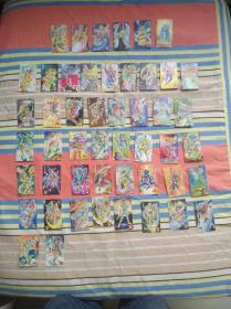 封神100(北京统一方便面内带卡片)有49张:法宝5张;人物44张大部分背面有手写数字2元一张,5元发货有需要可咨询具体要哪张。图片太多不能一一上图