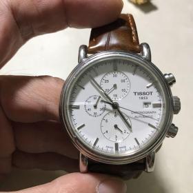 Tissot(天梭)-瑞士原厂原装。全自动机芯,计时手表(白色表盘)