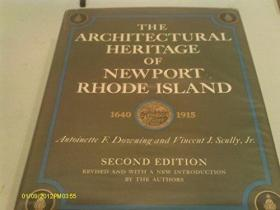 The Architectural Heritage of Newport, Rhode Island 1640-1915. Second Edition - Revised.