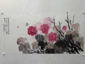 保真书画,全国美展银奖获得者,湖南著名画家阳先顺四尺整纸国画精品一幅,展览出版作品!