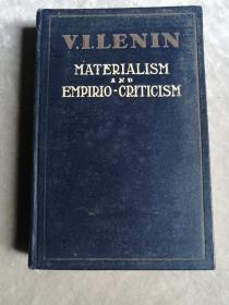 包邮 MATERIALISM AND EMPIRIO-CRITICISM 英文版唯物主义与经验批判主义 带1950年原购书发票