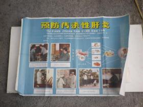 预防传染性肝炎   老宣传画  76x53