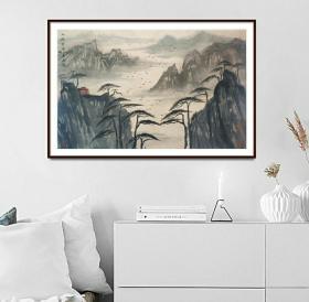 中美协会员,山水名家杨运高水墨山水系列精品,有合影