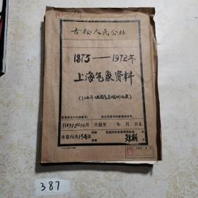 上海气象资料(1873-1972)
