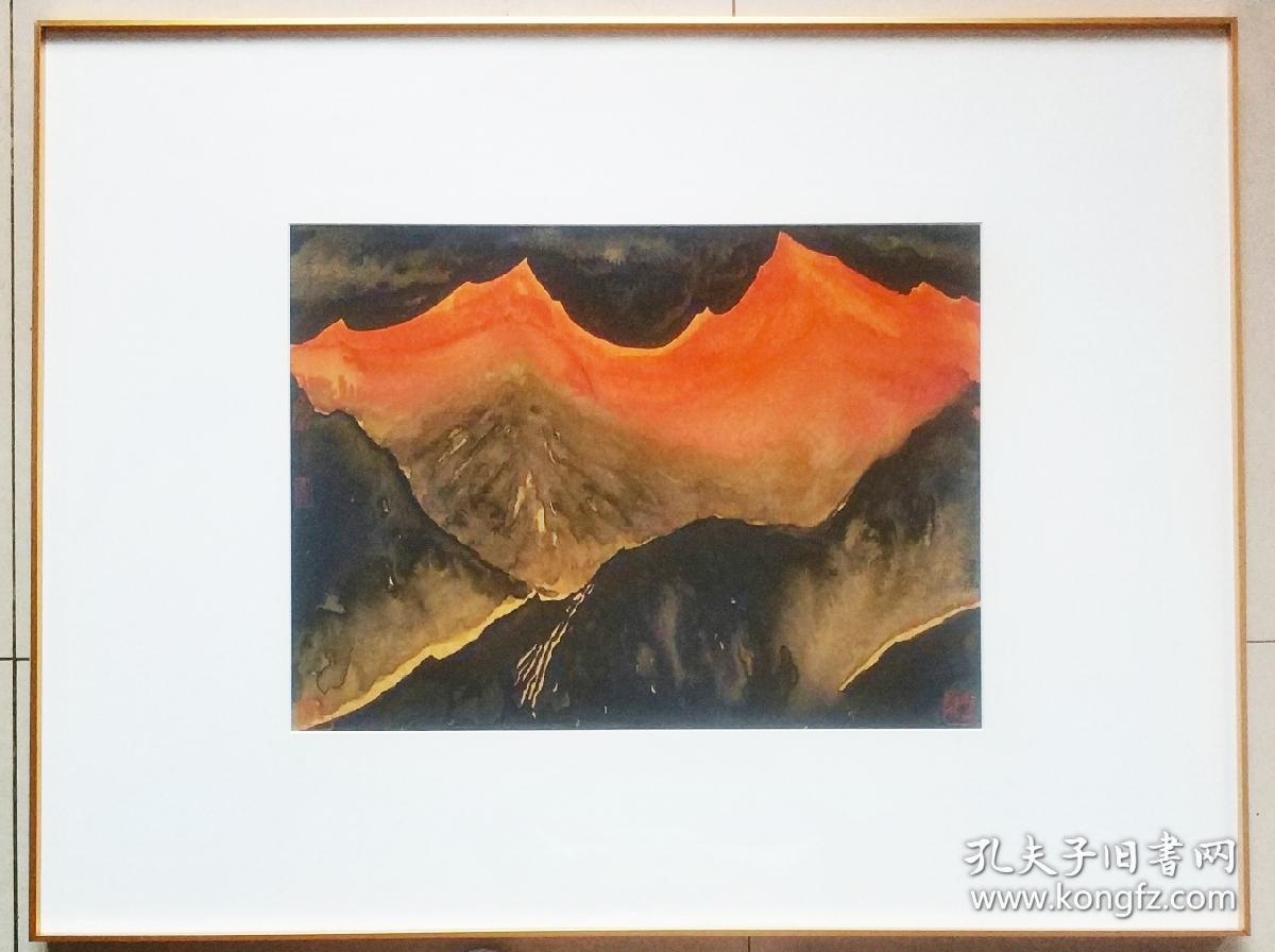中美协会员,杨运高老师重彩天境系列山水精品,有合影视频