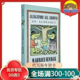 Nutshell library 英文原版 Alligators All Around 小鳄鱼学字母 纸板书 名家 莫里斯·桑达克 正版英语启蒙 廖彩杏书单