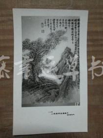 黑白照片一张: 山水画(1982年上海画院迎春画展)伍蠡甫 绘画