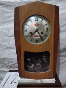 挂钟 .金杯牌   木制机械挂钟
