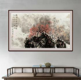 中美协会员,97百杰画家唐凤岐7平尺山水精品