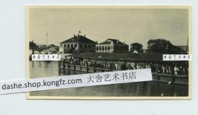 民国早期湖北省荆州沙市码头口岸和西式大型建筑老照片