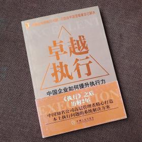 卓越执行:中国企业如何提升执行能力