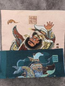 钟馗唐卡刺绣织锦绣画