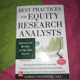 Best Practices for Equity Research Analysts:Essentials for Buy-Side and Sell-Side Analysts