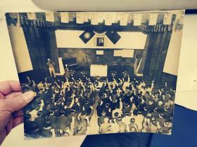 民国老照片...民国时期的国民大会会场..28cm..x23cm....