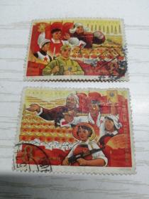 【文革邮票】纪118 高举毛泽东思想伟大红旗为实现第三个五年计划而奋斗2-1(386)8分 工业建设 2-2 (387)8分 农业建设 信销票 一套两枚全