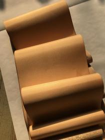 万岁通天帖。纸本大小26.62*380厘米。宣纸艺术微喷复制。丝绸覆背高档装裱。装裱完成品长度约5.2米左右,款式随机。