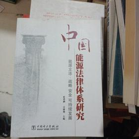 中国能源法律体系研究:能源立法·战略安全可持续发展