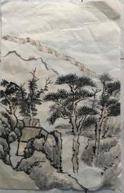国画  宣纸未裱 水墨画 尺寸:52x33厘米 品相以图为准