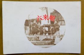 【民国老照片】民国——钦寿田等人,摄于江苏苏州——常熟(虞山之乡),有背题,1966年谨志