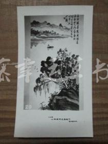 黑白照片一张: 山水画(1982年上海画院迎春画展) 张炎夫 绘画