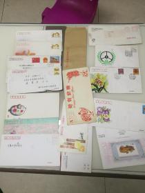 各种信封14枚(内含一枚中国邮政贺年有奖明信片发行纪念张