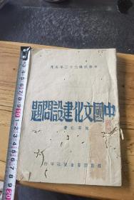 陈安仁著,中国文化建设问题