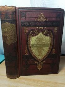 1877年 精美赠言  THE POETICAL WORKS OF HENRY WADSWORTH LONGFELLOW 插图版   烫金封面 三面刷金  18.6X13CM