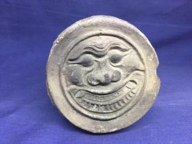 清 康熙5年--温州乐清瓦当 虎头 小巧漂亮 保存完整 包康熙时期 用于制作拓片的原件--摆件收藏为一体--见图 描述5