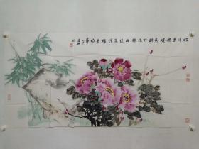 保真书画,北京画院画家,王雪涛纪念馆馆长,著名画家温瑛四尺整纸精美国画一幅