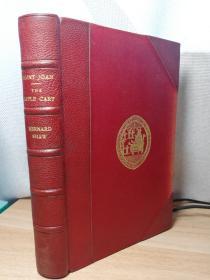 1934年  SAINT JOAN THE APPLE CART BY BERNARD SHAW   摩洛哥皮脊  半皮装帧  20.6X14CM