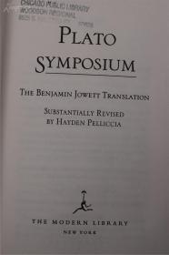 柏拉图之飨宴 精装 著名的jowett译本 现代文库版 Platos Symposium (Modern Library)