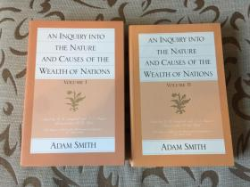 An inquiry into the nature and causes of the wealth of nations by Adam Smith -- 亚当 斯密 《国富论 》 最权威的格拉斯哥版 2卷本 全新 纸质好 胶装锁线