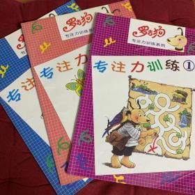 罗吉狗专注力训练系列 全3册