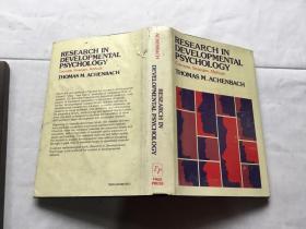 Research in Developmental Psychology: Concepts, Strategies, Methods 美国著名心理学家托马斯·阿肯巴克著作《发展心理学研究 》 英文原版  Thomas M. Achenbach 著 精装