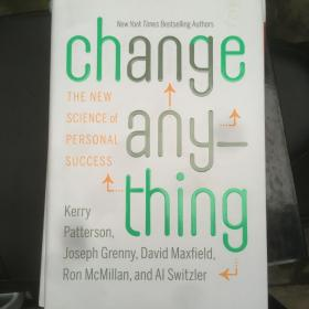 Change Anything:The New Science of Personal Success
