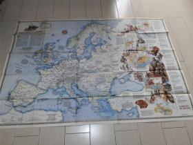 NATIONAL GEOGRAPHIC 英文版美国国家地理地图 1983年12月