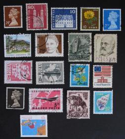 外国邮票----混合邮票23(盖销票)