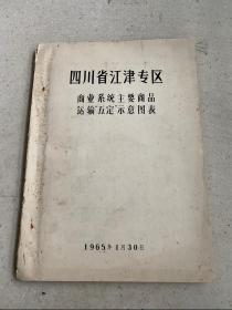 四川省江津专区:商业系统主要商品 运输五定示意图表